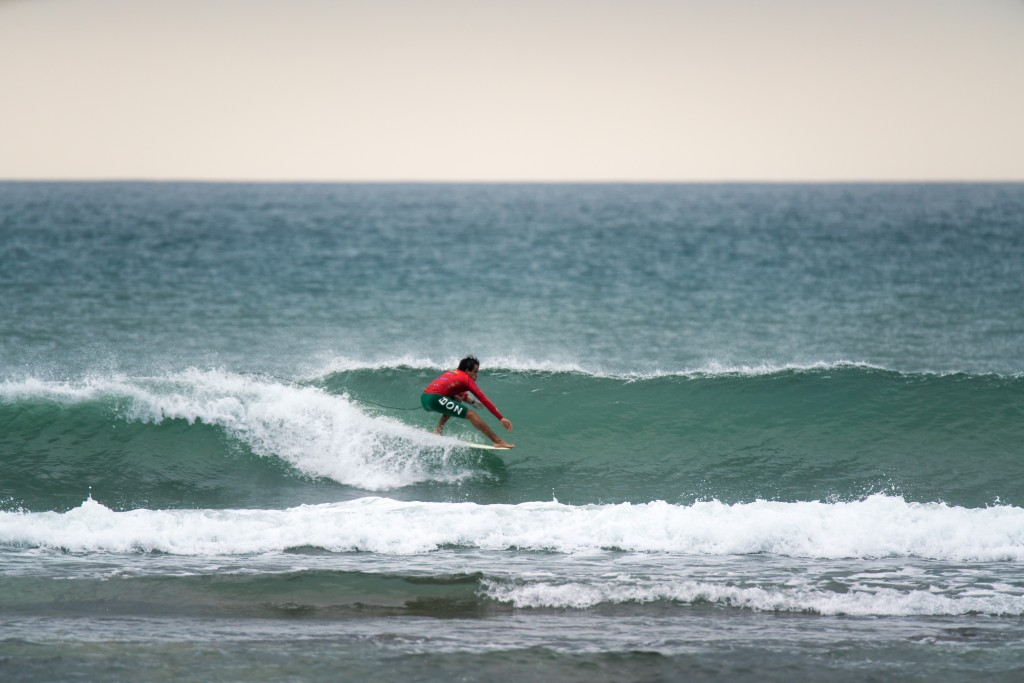 Peru's Lucas Garrido finds the sweet spot on the opening day of competition at Riyue Bay. Photo: ISA / Sean Evans