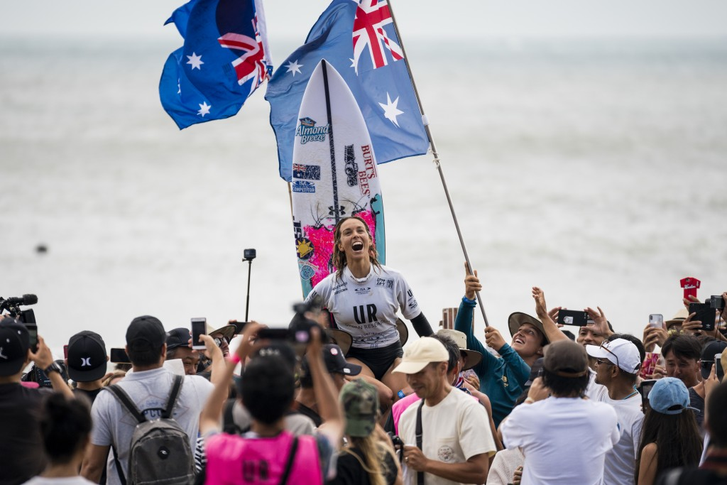 A decade after winning the WSG for the first time, Sally Fitzgibbons has joined the ranks of repeat Champions in 2018. Photo: ISA / Ben Reed