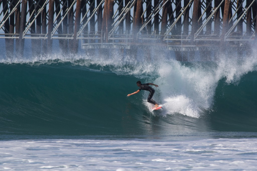 A flawless, autumn day in Oceanside, California. Photo: ISA / Sean Evans