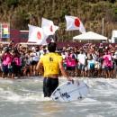 Los aficionados de Japón dieron la bienvenida a la participación del Medallista de Plata Kanoa Igarashi en el Equipo Nacional. Photo: ISA / Sean Evans