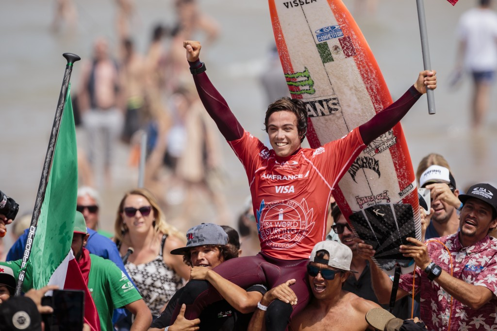 Jhony Corzo (MEX) will return to defend is World Surfing Games Title. Photo: ISA / Ben Reed