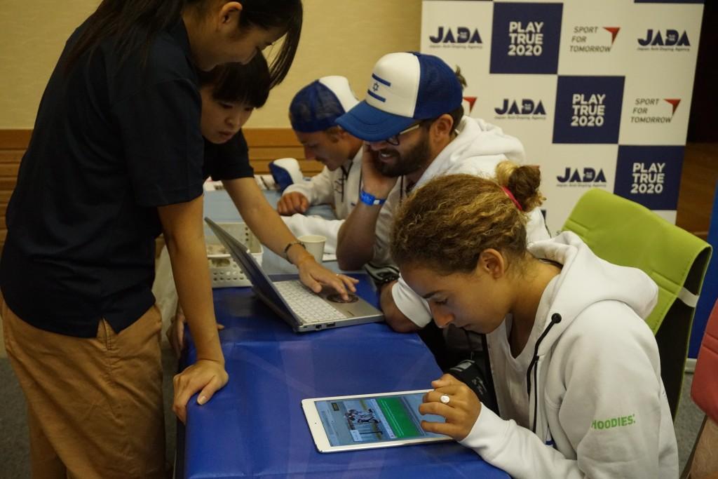 Team Israel participates in JADA's anti-doping education outreach. Photo: ISA / Borja Irastorza