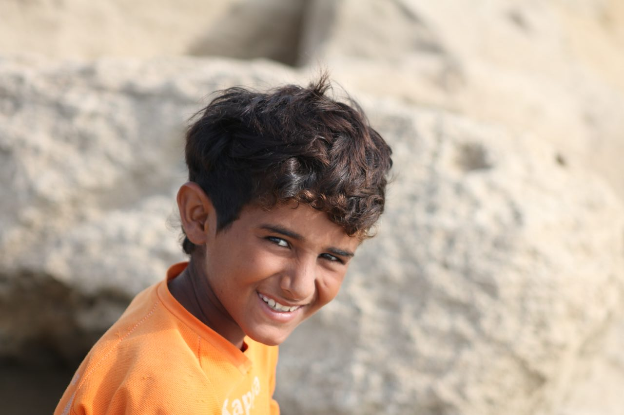 Seraj Balouch has a natural talent for surfing. He is the youngest surfer  in his village that can catch a