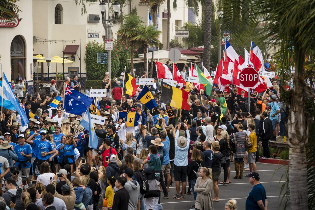 The Parade of Nations marches down Main St. in a display of national pride. Photo: ISA / Ben Reed