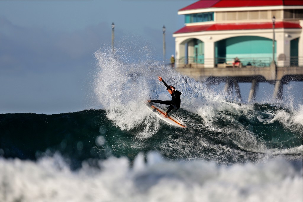 The south side of Huntington Beach Pier will welcome the world's best junior Surfing talent. Photo: Mike Harris