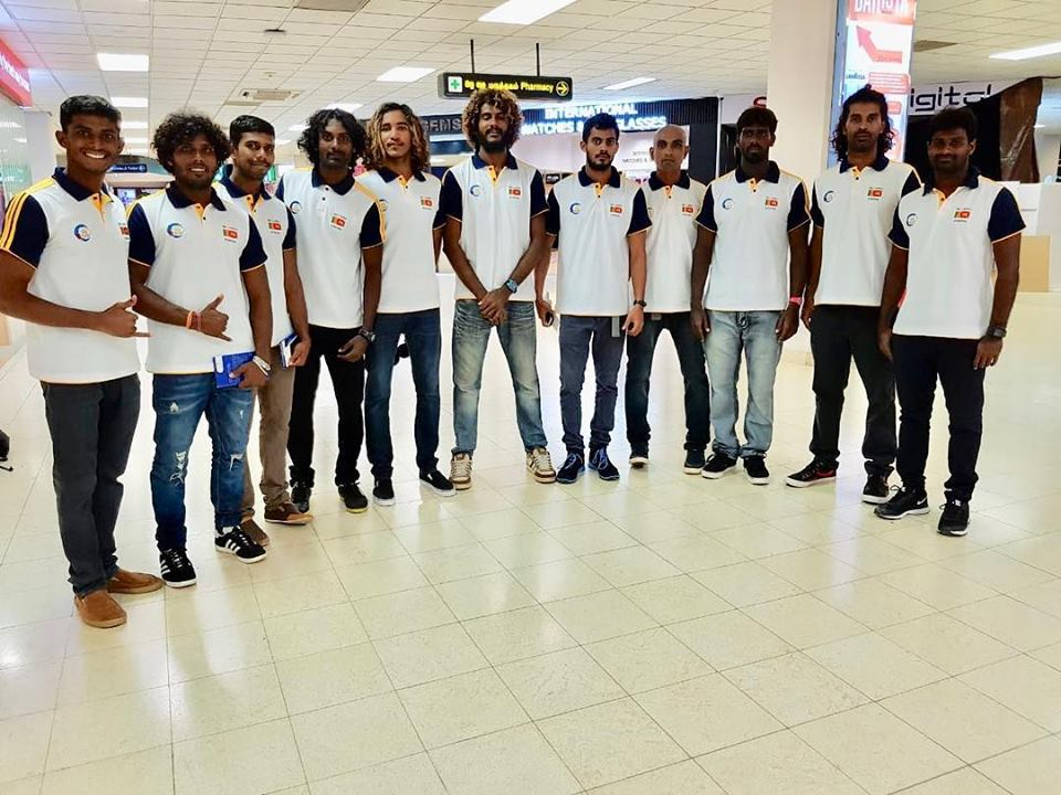 Sri Lanka's first national team prepares to leave to India.