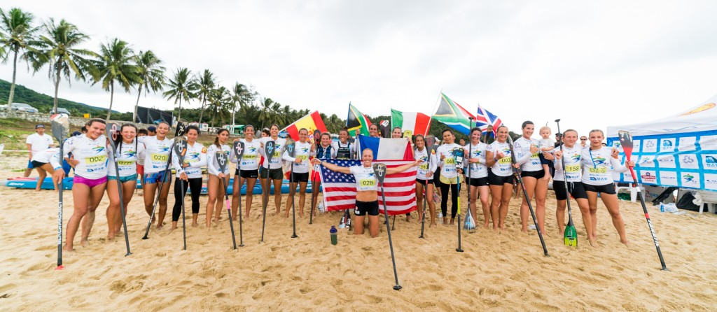 The best women SUP racers in the world united through the power of SUP at the ISA Worlds. Photo: ISA / Sean Evans