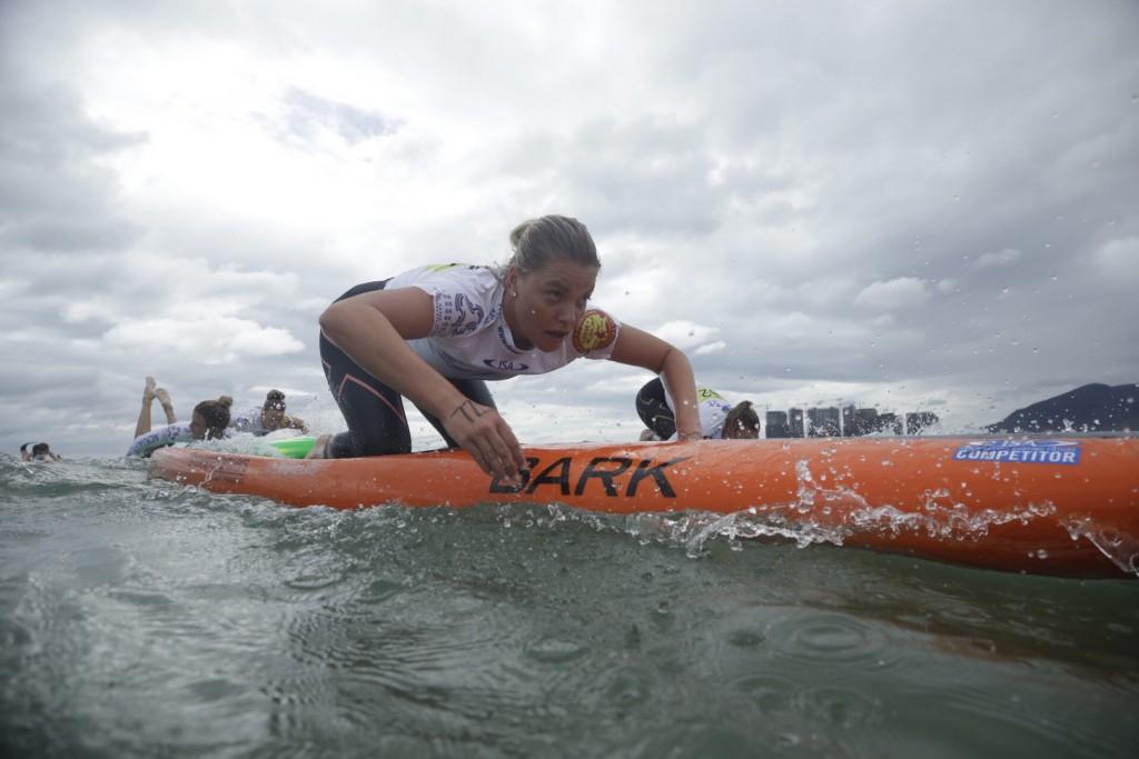 Grace Rosato (AUS) victoriosa en su primera participación en el Mundial ISA. Foto: ISA / Pablo Jímenez
