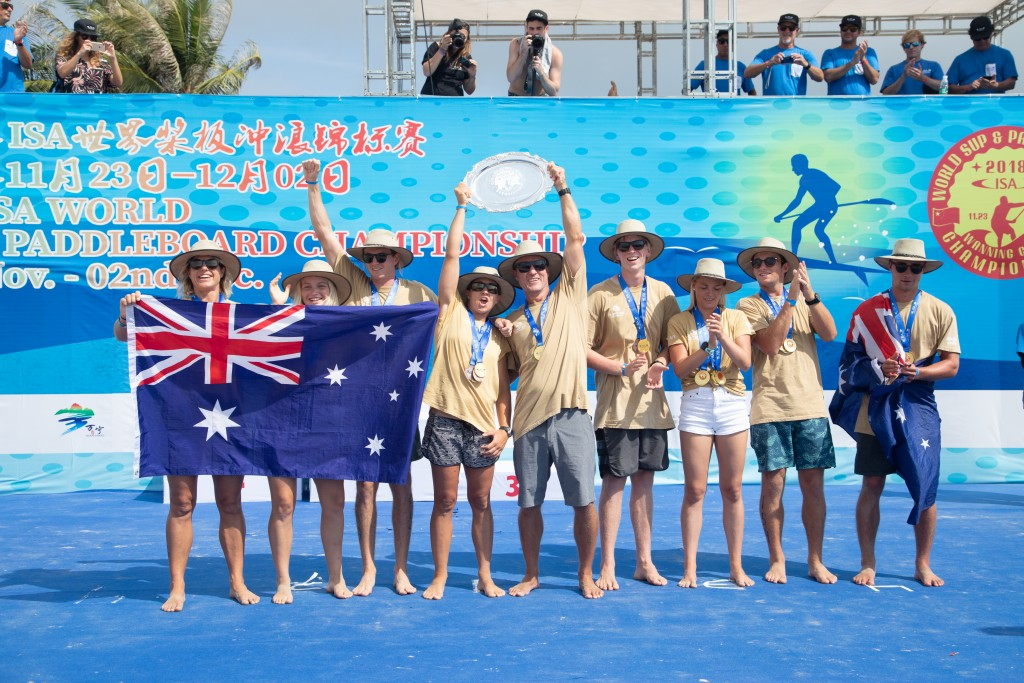 Six Golds in seven years for Australia – true SUP and Paddleboard dominance. Photo: ISA / Pablo Jímenez