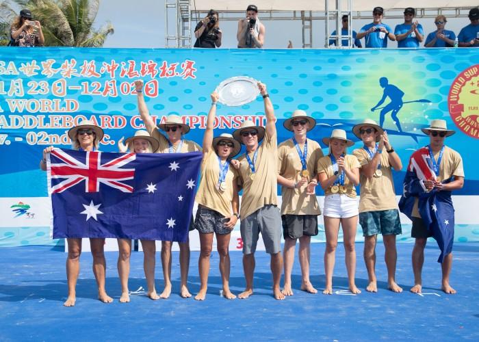 Seis Oros en siete años para Australia - auténtico dominio del SUP y Paddleboard. Foto: ISA / Pablo Jimenez