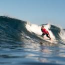 La ceguera del brasileño Figue Diel no le impide encontrar el espacio perfecto en la ola. Diel lucha por conseguir su primera Medalla de Oro en este 2018. Foto: ISA / Sean Evans