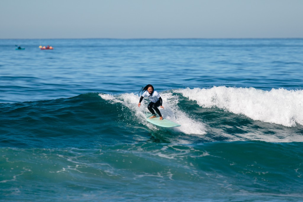 Canada's Ling Pan hopes to inspire other visually impaired surfers to get in the water. Photo: ISA / Chris Grant