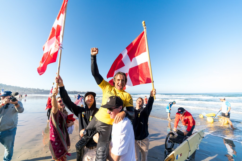 Denmark's Bruno Hansen just as excited with his fourth gold as he was with his first. Photo: ISA / Sean Evans