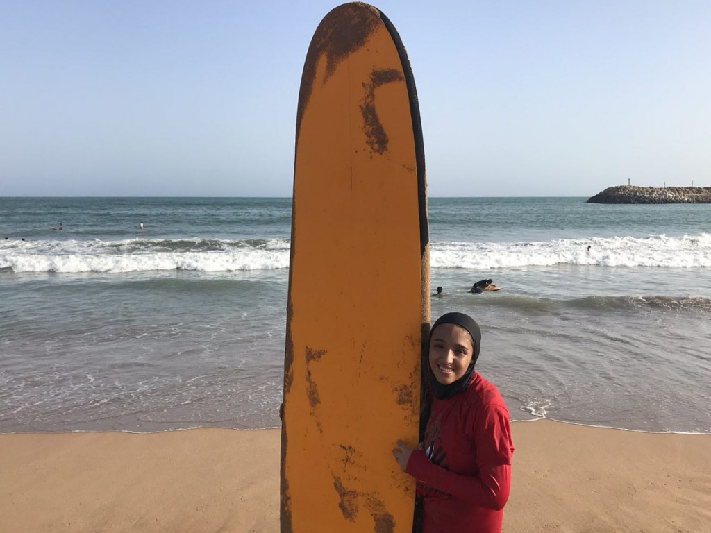 Iran's Farima Nouri hopes to spread surfing to other girls in Iran.