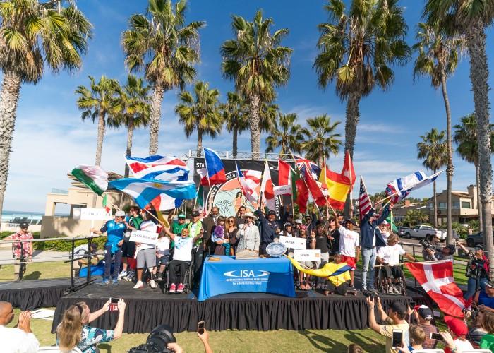 24 naciones unidas en paz a través del surfing adaptado. Foto: ISA / Sean Evans
