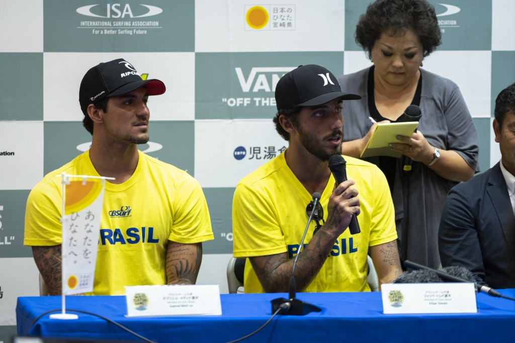 Brazil's Gabriel Medina and Filipe Toledo share their excitement to represent their nation in the event. Photo: ISA / Ben Reed