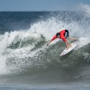 Peru's Sofia Mulanovich surfing strong into the Women's Main Event Final. Photo: ISA / Ben Reed