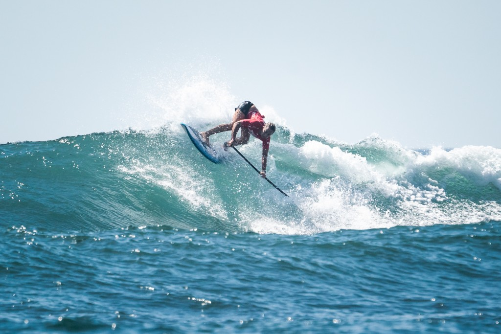Australia's Shakira Westdorp showing that she is still the surfer to beat as she goes for her fourth consecutive Gold Medal in the event. Photo: ISA / Sean Evans