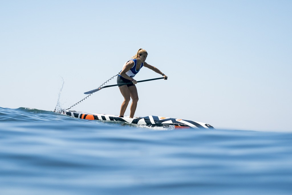 Susak Molinero leading Team Spain to victory on the third lap of four. Photo: ISA / Ben Reed
