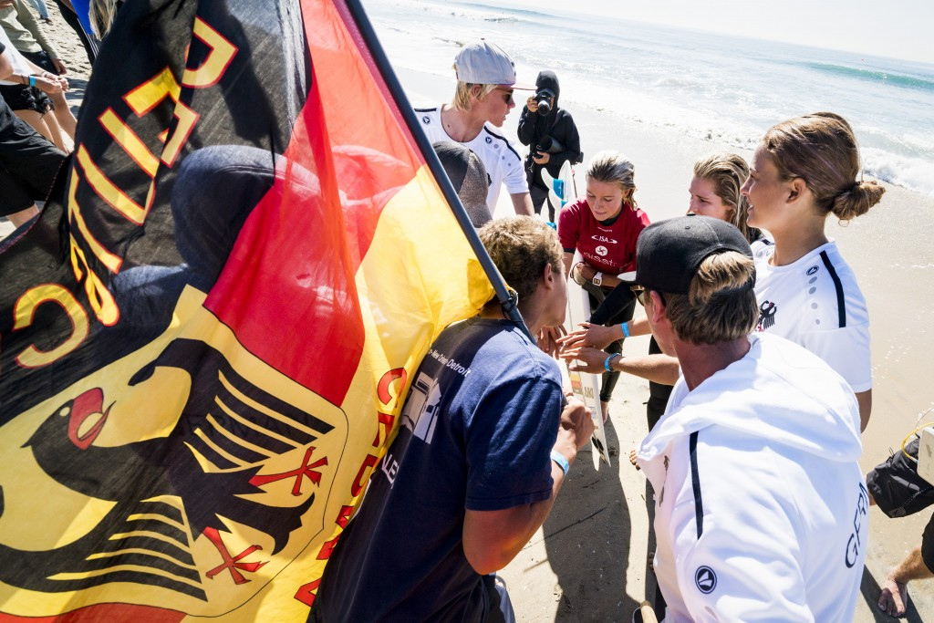 Noah Lia Klapp advanced through another day of competition for Team Germany. Photo: ISA / Ben Reed