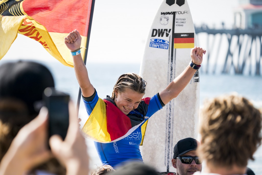 Noah Lia Klapp earns a Gold Medal for Germany, the second consecutive year that the country has earned a Gold in the event. Photo: ISA / Ben Reed