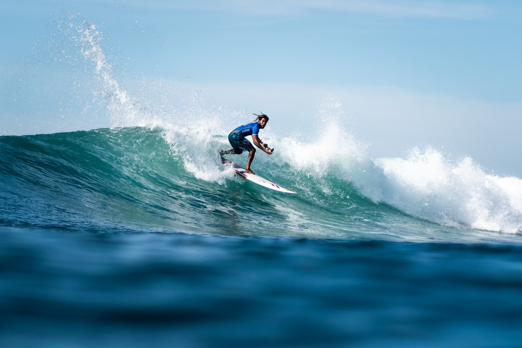Italy's Airton Cozzolini looks to be a podium contenders after displaying strong surfing through the first three rounds of the Men's Main Event. Photo: ISA / Sean Evans