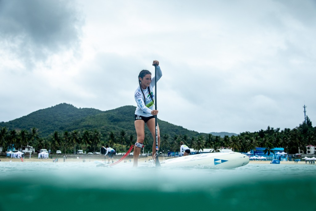 Jade Howson (USA) will defend her Gold Medal in the Junior SUP Technical Race. Photo: ISA / Pablo Jimenez