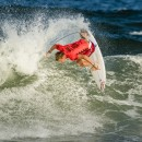 Thumbnail Kolohe Andino, Jeremy Flores, Tatiana Weston-Webb, and Johanne Defay Capture Slots for Tokyo 2020 via World Surf League Championship Tour