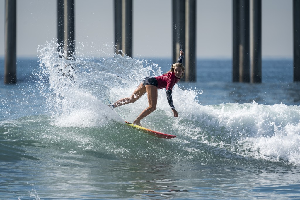 USA's Sam Sibley has been eliminated from the individual competition, but that didn't stop her from leading her nation to Gold in the Aloha Cup. Photo: ISA / Ben Reed