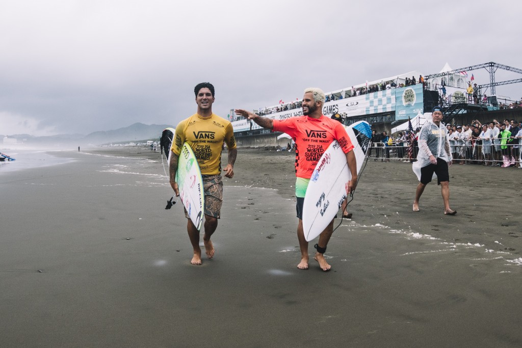 As teammates at the 2019 ISA World Surfing Games, Italo Ferreira took Gold and Gabriel Medina took Bronze for Team Brazil. Now they will reunite as teammates on the world's greatest sporting stage at Tokyo 2020. Photo: ISA / Pablo Jimenez