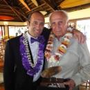 Fernando y Eduardo en su introducción a los Miembros Honorarios del Club Waikiki, en Lima, Perú, 2010