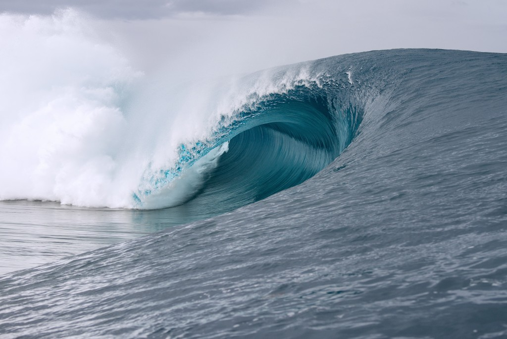 Tahiti's world-renowned left-hander, Teahupo'o. Photo: WorldSurfLeague.com