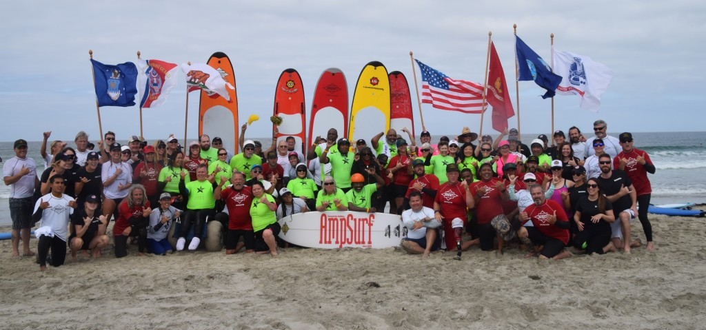 AmpSurf has brought their more than 16 years of experience in Adaptive Surfing to form a strong partnership for the World Championship. Photo: AmpSurf