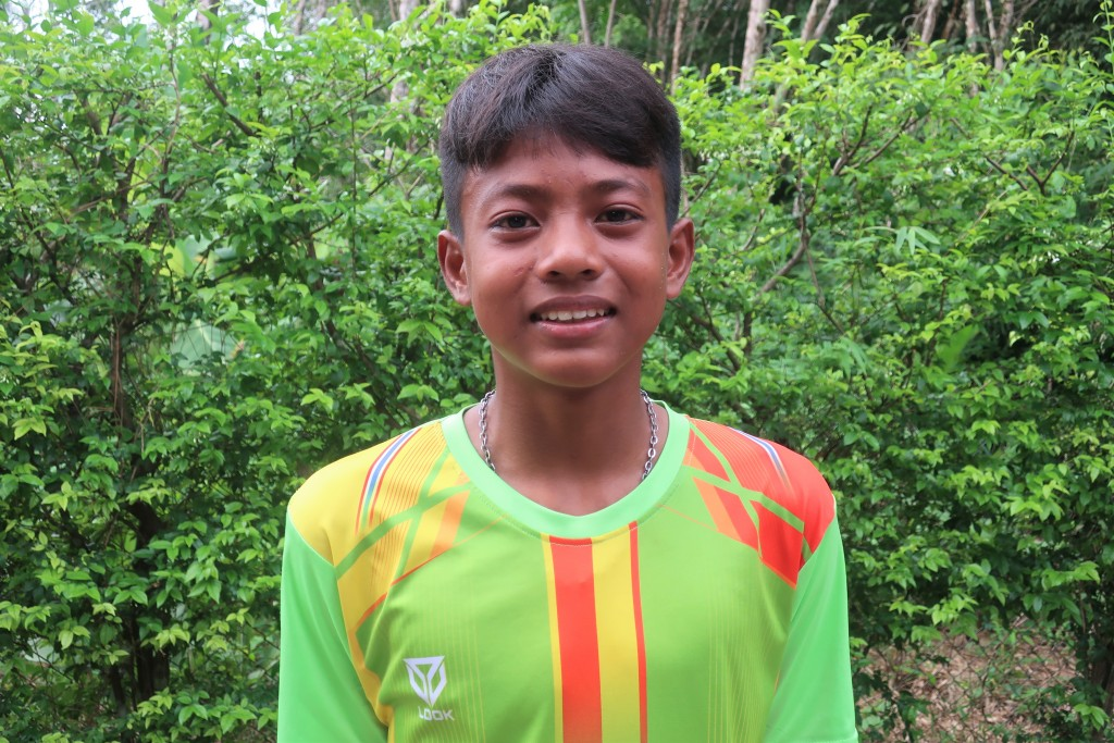 14-year-old Yutthana Navarak from Thailand will use his scholarship to support his family by paying for school fees.
