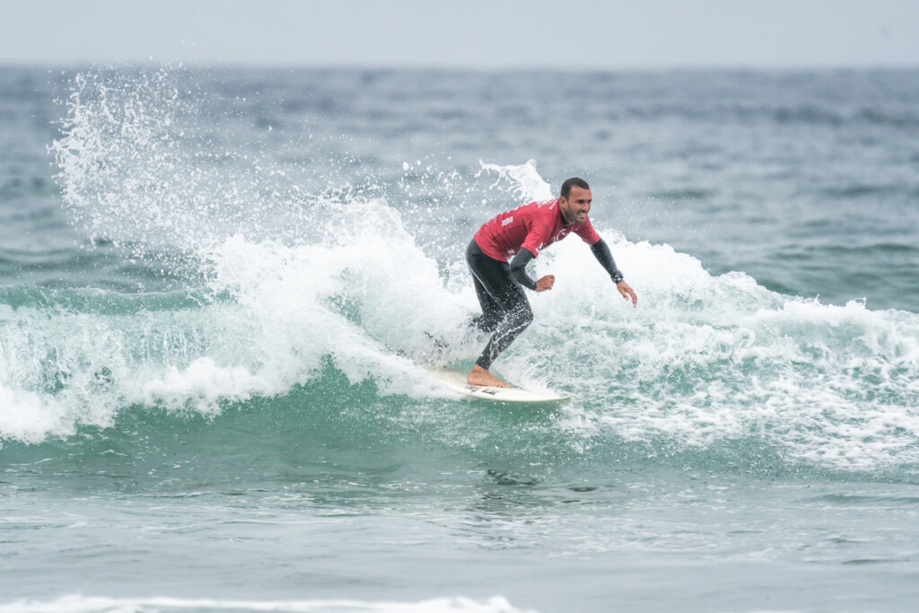 Brazil's Mike Vaz put on the top performance for the opening day of competition, earning the high wave score and heat total. Photo: ISA / Sean Evans